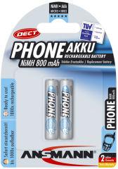 ANSMANN batterie NiM SPECIAL, Micro AAA, 800mAh,blister de 2