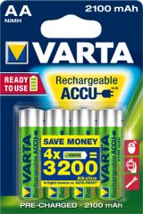 Batterie HR06 aa 2100 mah longlife blister de 4