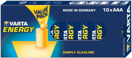 "VARTA piles alcalines ""Energy"", Micro (AAA/LR3)"