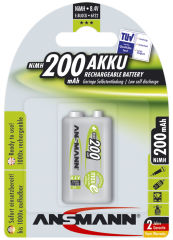 ANSMANN accus NiMH maxE rechargeables, 9V-Bloc, 200mAh