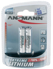 ANSMANN EXTREME LITHIUM micro AAA (FR03), 1,5V, blister de 2