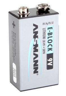 ANSMANN EXTREME LITHIUM 9V Bloc-E (6AM6), 10,8V