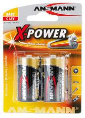 "ANSMANN pile alcaline ""X-Power"", Baby C, blister de 2"