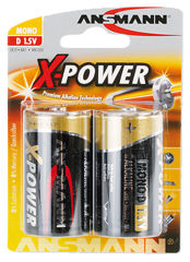 """ANSMANN pile alcaline """"X-Power"""", Mono D, blister de 2"""