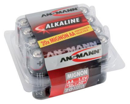 ANSMANN Pile alcaline 'RED', Mignon AA, blister de 20