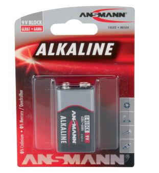 ANSMANN Pile alcaline 'RED', E-bloc 9V