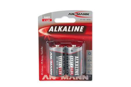 ANSMANN Piles alcalines 1513-0000 LR14 / C blister de 2