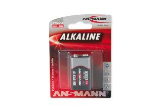 ANSMANN Piles alcalines 1515-0000 6LR61 / E blister de 1