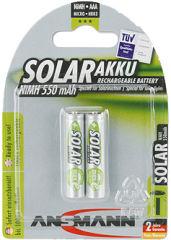ANSMANN Pile rechargeable NiMH SOLAR, Micro AAA, 550 mAh