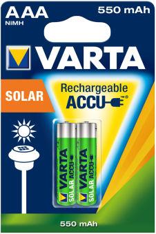 VARTA Pile NiMH 'Rechargeable Accu Solar', Micro (AAA/HR03)